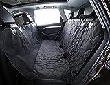 Seggiolino auto per cani Alfheim Seggiolino auto posteriore regolabile antiscivolo con ancore per una calzata sicura-Design universale per tutte le auto, camion e SUV (nero)
