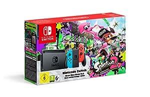 Nintendo Switch, Blu/Rosso Neon + Splatoon 2 (Digital Download) [Bundle Limited]