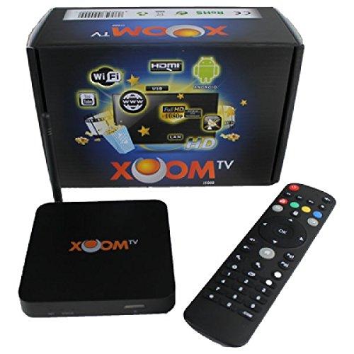 XoomTV i1000 IPTV-Receiver Arabische Version für 1 Jahr (ca. 450 arabische Sender,WLAN,LAN,HDMI,AV-Out,Netzteil) schwarz
