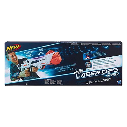 Nerf Laser Ops Pro DeltaBurst, LaserTag-Blaster inkl. Licht- & Soundeffekt, mit LCD Display und Infrarot Schüssen, Kinderspielzeug, auch für Erwachsene