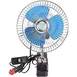 Mini Ventilateur 8 inch Portable 12V 18Cm X 18Cm X 18Cm Voiture Électrique Véhicule Ventilateur De Refroidissement Ventilateur Auto Mini Clip D'Été Ventilateur Faible Bruit avec Chargeur De Voitur