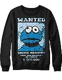 Sweatshirt Cookie Monster Wanted C112281 Schwarz L