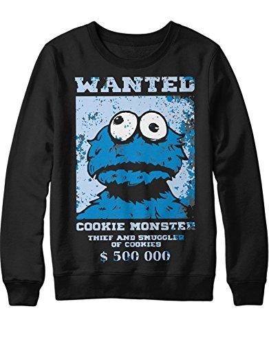 Sweatshirt Cookie Monster Wanted C112281 Schwarz