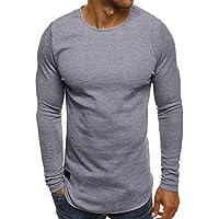 Yvelands Camiseta de Manga Larga para Hombre Suéter de tripulación Casual  Blusa Superior Otoño ... 4456fc00dfdb