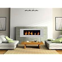 Metal Chimenea Plata / BBT-10001110 / Para el uso con el Fuego-Gel o Bio-Etanol / Por último: Bienes Fuego - NO cenizas, polvo o humo! / Chimeneas