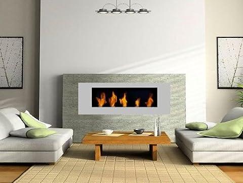 BBT@ / Metall Gel-Kamin Silbern / Für Brenngel oder Bio-Ethanol / BBT-10001110 / Echtes Kamin-Feuer ohne Rauch, Asche oder Staub