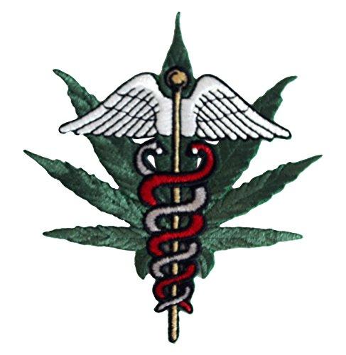 WEED INDEED!! Medical Marijuana Patch Fleck Iron-On / Sew-On Marijuana Patch Fleck Officially Licensed Marijuana Weed Pot/Pop Culture Artwork, 3.75