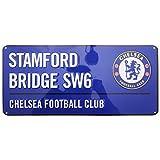 Chelsea FC - Placa decorativa metálica oficial de Chelsea FC (Talla Única/Azul)