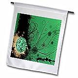3dRose FL_78474_1 Discokugel auf Grunge Hintergrund, 30,5 x 45,7 cm, Grün