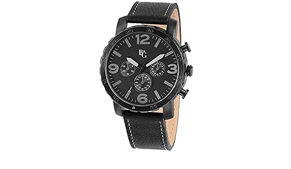 Montre B&G en Silicone Noir Homme 49 mm x 58 mm: Amazon