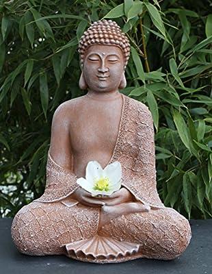 Steinfigur Buddha sitzend Steinguss Terrakotta von Tiefes GbR bei Du und dein Garten