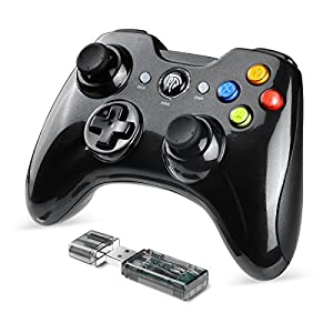 EasySMX PC Controller, 2.4G Wireless Gamepad, PS3 Gaming Controller, Dual Vibration, 8 Stunden Spielzeit f¨¹r PS3 / PC/Android Handys, Tablets, TV-Box