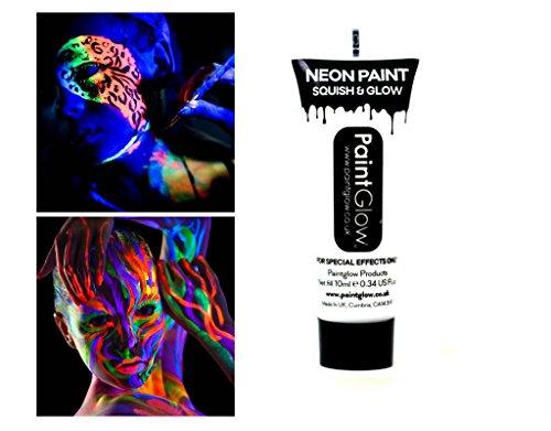 Tube Malerei Körper und Gesicht UV Neon Bodypaint weiß 10ml (Uv-gesichts-farbe Weiß)