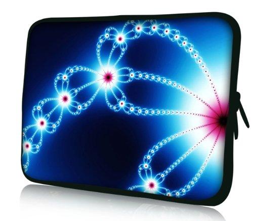 Luxburg® Design Laptoptasche Notebooktasche Sleeve für 17,3 Zoll, Motiv: Strümpfe Qualle