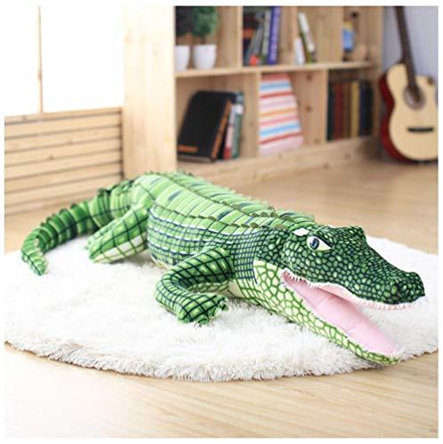 BBSJX Große Kuscheltier Simulation Alligator Plüschtier Karpfen Puppen Kawaii Ceative Kissen Für Kinder Geburtstagsgeschenke 1 Stück 100 cm