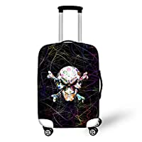 HUGS IDEA 18-30 Inch Skull Print Elastic Luggage Covers Protector for Travel