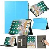 Cover Case 2018 Veröffentlichung Folio Leather Wallet Card Stand Case Schutzhülle Für iPad Pro 12.9in (Blau)
