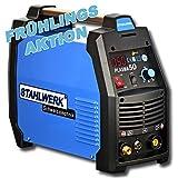 STAHLWERK CUT 50 S Plasmaschneider mit 50 Ampere, bis zu 12mm Schneidleistung, für Lackierte Bleche & Flugrost geeignet, 5 Jahre Herstellergarantie