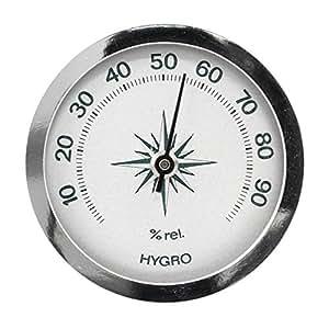 Mini-hygromètre analogique argent luftfeuchtemesser fabriqué en allemagne