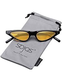 SOJOS Gafas De Sol para Mujer Ojo De Gato Moda Cat Eye Sunglasses SJ2046