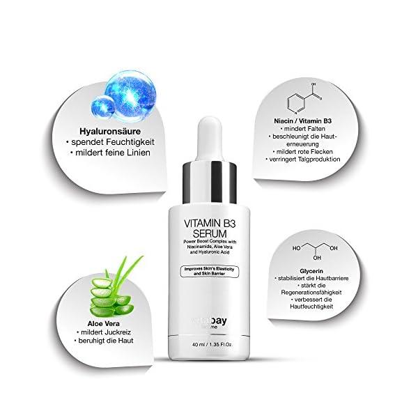 Suero de vitamina B3 40ml – cuidado antienvejecimiento + niacinamida – contra el acné y las arrugas