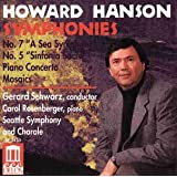 Hanson/Sinfonien 5+7/Klavk.