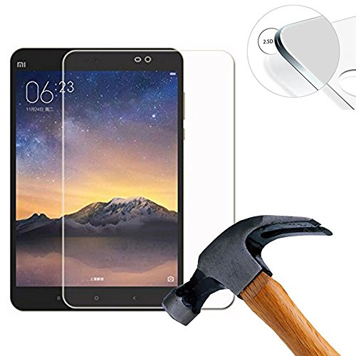 Lusee 2 x Pack Panzerglasfolie Schutzfolie für Xiaomi MI Pad 3 9.7 Zoll Bildschirmschutz Tempered Glass Folie Screen Protector Panzerfolie Glasfolie 0,3 mm 9H clear 2.5D