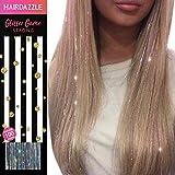 Glitzernde Haarsträhnen, Silberne holographische' - HAIR DAZZLE - Weihnachtsgeschenk, Accessoires für Meerjungfrau/Einhorn-Haar für Mädchen, Farbe und Glanz verleihen, Geschenke für Mädchen