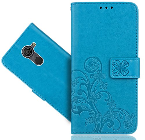 Vodafone Smart Platinum 7 Handy Tasche, FoneExpert® Blume Wallet Case Flip Cover Hüllen Etui Hülle Ledertasche Lederhülle Schutzhülle Für Vodafone Smart Platinum 7