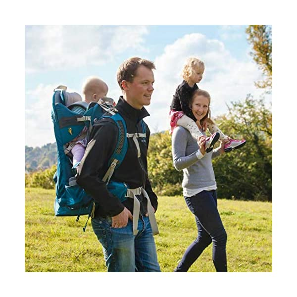 "LittleLife Unisex's Freedom S4 Child Carrier (blue) Back, One size LittleLife Anatomically shaped child seating area, with neck support and soft face pad Includes rear view mirror, sun shade and Foot stirrups Suitable for adults 1.57 - 1.87M/ 5'2"" - 6'4"" 10"
