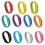 Pinhen Xiaomi Mi Band 1 1S Bracelet de Rechange Bracelet Traqueur pour Mi Band/Xiaomi 1S Band Portables Bracelet (11pcs Set)