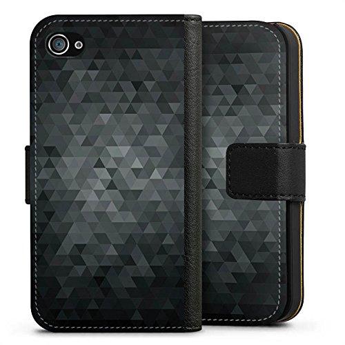 Apple iPhone 6s Tasche Hülle Flip Case Dreiecke Modern Dunkel Sideflip Tasche schwarz