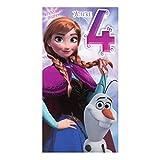 Hallmark Biglietto di auguri per 3° compleanno, tema Disney Frozen'Magical Wishes', misuraM, Medium Slim