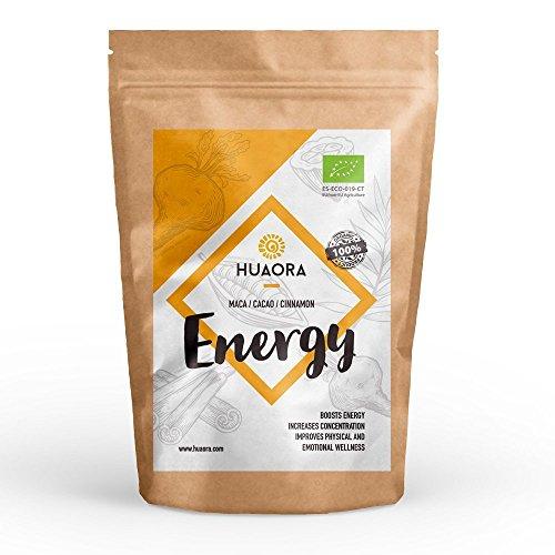 Huaora Energy – alto valore nutritivo ed energetico che stimola il sistema nervoso, aumenta l'energia e favorisce la concentrazione – senza glutine, soia ne lattosio