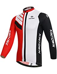 Baymate Unisexe Respirant Maillot Cyclisme Manches Longues Jersey des Sports Tops
