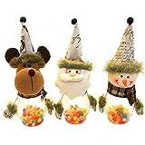 JUNMAONO 1 Stück Kinder Weihnachtsdekoration Transparent Weihnachten Süßigkeiten Kekse Can Geschenktüte Liefert Candy Can Weihnachts Dekoration Süßigkeitstasche (Elch)