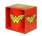 DC Comics - Wonder Woman Logo Porzellan Tasse - Kaffeebecher - rot - Lizenziertes Originaldesign - LOGOSHIRT