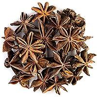 Anís estrellado orgánico infusión semillas - Ideal para cocinar - Badiana de sabor dulce e intenso - Máxima calidad de China - Anís estrellado o Illicium verum 100g