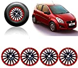 #1: Auto Pearl - Premium Quality Car Full Wheel Cover Caps Red and Black 14 Inches Press Type Fitting For - - Maruti Suzuki Ritz Type-2