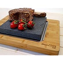 Gran piedra caliente para preparar filetes piedra bandeja
