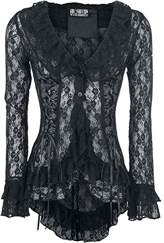 Poizen Industries Lace Top Giacca donna nero XL
