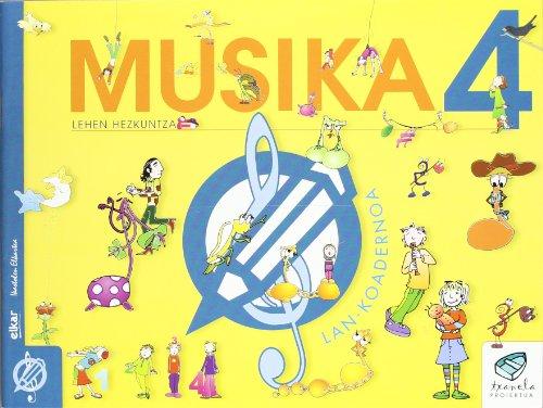 Txanela 4 - Musika 4. Lan-koadernoa 4 - 9788497832441 por Xirula Mirula