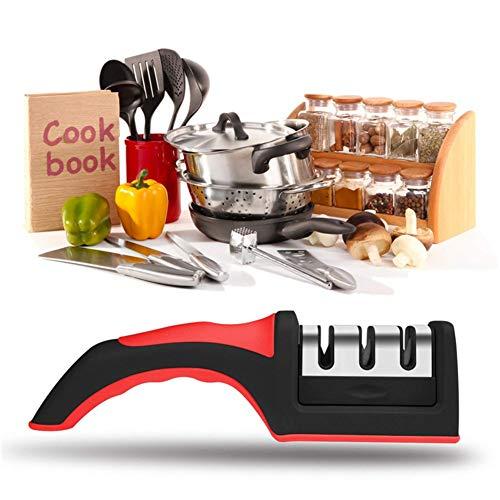 CRZJ Knife Sharpener Multifunktional Handheld DREI Segmente Manueller Messerschärfer Haushalt Küche Gadget Schneller Messerschärfer Hand Held Knife Sharpener