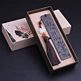 flashing lights- Mahagoni-Ebenholz-Holz-Lesezeichen Chinesische Art mit Quasten-kreativen klassischen Bookmarks Retro Geschenk ( Farbe : F )