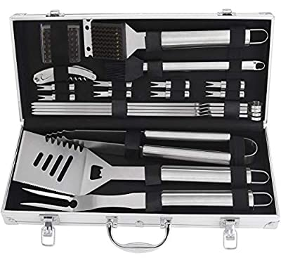 grilljoy 20pcs BBQ Set with Aluminum case