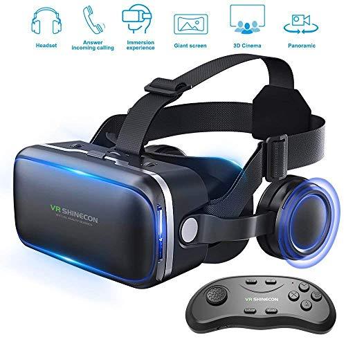 Occhiali Virtuali 3D, 3D Realtà Virtuale (VR) Occhiali,Compatibile con Tutti Gli Smartphone Come Samsung, iPhone, Android, Huawei, da 4,0 A 6,0 Pollici - Regalo Perfetto di Natale E di Compleanno
