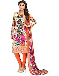 A K Designer Women's Chiffon Dress Material (Mehak9001_Free Size_Multi-Coloured)