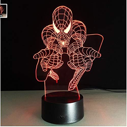 El Mejor Regalo Para Niños 3D Night Light Marvel Movie Fans...