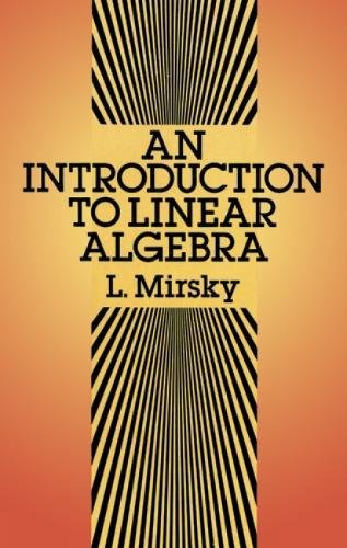 An Introduction to Linear Algebra (Dover Books on Mathematics)