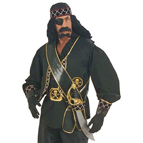 Piraten Schwerthalter Musketier Schwertgürtel Schwert Gürtel Waffengürtel Schärpe Mittelalter Kostüm Accessoire - 3